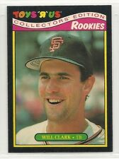 1987 Topps Toys 'R' Us Rookies - #7 - Will Clark - San Francisco Giants
