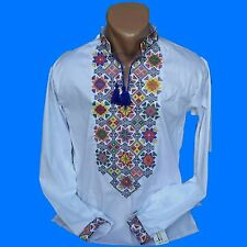 Ukrainian Embroidered Shirt for men. Cross stitch. 2XS-3XL