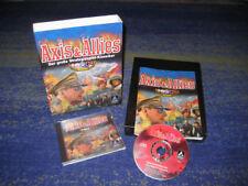 Axis & Allies PC CD primero tirada en eurobox con manual, etc. Big Box