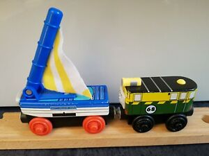 Magnetic Wooden PHILIP & SKIFF Thomas & Friends Wooden Train Track BRIO compat