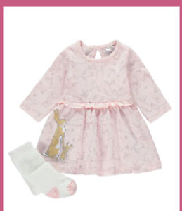 Guess How Much I Love You  Baby Girls Dress And Tights Outfit 9 -12 Months