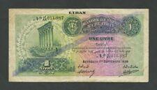 More details for lebanon 1 livre 1939 krause 26a  banknotes