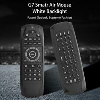G7 English Fly Air Mouse Rechargeable 2.4G Wireless Keyboard Remote Control