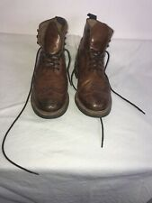 Grenson Good Year Welt Brown Leather Brogue Boots UK 8 G Ref Ba17