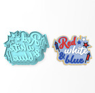 Red White & Blue Cookie Cutter & Stamp | United States USA Fireworks #1