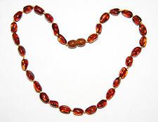Genuine Baltic amber baby necklace, cherry olive shape beads 33 cm /13 inch