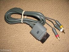 MICROSOFT XBOX 360 OFFICIAL GENUINE COMPOSITE TV AV LEAD CABLE ADAPTER