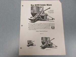 Oliver Grinder Mixers Sales Sheet