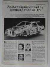 VOLVO 480ES 1987 brochure - Sweden - ST501000418