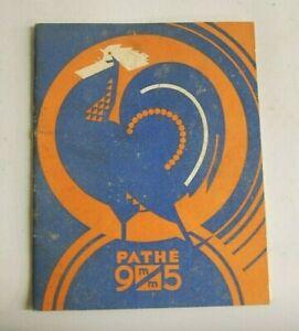 Pathe 9.5mm cine camera...instruction book