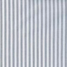 Textiles français Woven Marine Stripe fabric (Grey) 100% Cotton per half metre