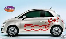 Fiat 500/500C Butterfly vinyl stickers, decals, graphics car Adhesive