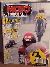 moto journal 807 23/7/87 kawa 1000gtr ou rx  gp de france 125 honda mtx r