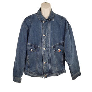 Vintage Quiksilver QSD Denim Jacket Surf 90s XL Made in USA 100% Cotton