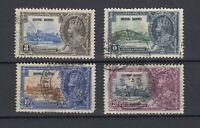 Hong Kong 1935 Silver Jubilee Set SG233/236 VFU JK1543