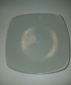 "Set Of 4 Noitake Colorscapes GoG Swirl Gray Square Dinner Plates 10 3/4"" New"
