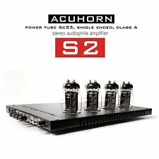 Acuhorn S2 OTL Stereo Amplifier Reference Sound Tube 6C33C SET Class A