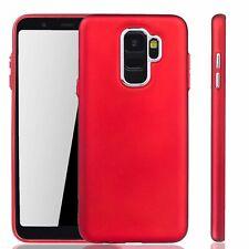 Samsung Galaxy A6 2018 Hülle Handyhülle Handy Schutz Case Cover Bumper in Rot