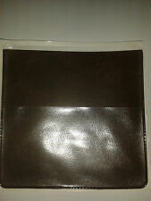 PARKING PERMIT HOLDER IN BROWN LEATHER LOOK PVC + EXTRA POCK FOR CARD