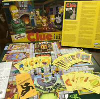 2002 Simpsons CLUE 2nd Edition Board Game Parker Brothers Complete Homer Bart