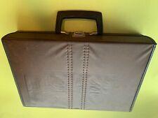 Vintage 30 Tape Cassette Case Holder Carry Storage Briefcase Leather 1980s