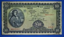 More details for 1943 irish ireland, ten pound, lady lavery, £10 banknote, code w  [20647]