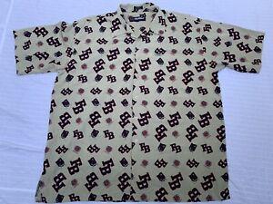 "Vintage FUBU ""The Collection"" Logo All Over Button Up Shirt XXL *Unique Piece!*"