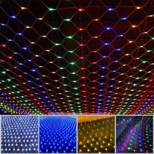 LED Fairy String Net Mesh Curtain Light Xmas Waterproof Outdoor Home Party Decor