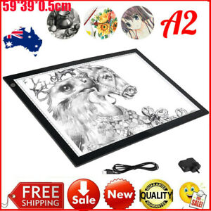 A2 Portable LED Light Box Tracing Board Art Design Stencil Drawing Copyboard AUE