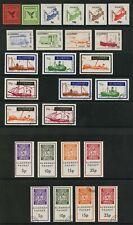 Alderney Packet Post 26 stamps Birds Transport etc Channel Islands