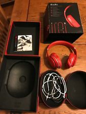 Beats By Dr. Dre Studio 2.0 WIRED Red color Over Ear Headphones