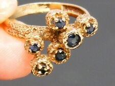 9CT gold  9K Gold Vintage Sapphire Hallmarked ring size L