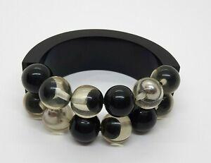 Vintage Armreif/Armband Schwarz Bakelit? Kunststoff?