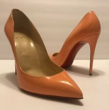 14bfb1a90d4a Christian Louboutin So Kate Orange Flamingo Patent Size 38 1 2