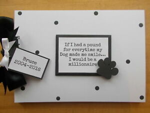 Personalised Polkadot Dog Pet Memory Scrapbook Photo Album Gift