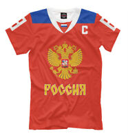 Ovechkin t-shirt Овечкин футболка national hockey Russia team red color uniform