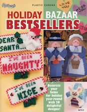 Holiday Bazaar Bestsellers ~ 20 Festive Projects plastic canvas pattern book NEW