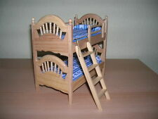 Hochbett Doppelstockbett Bett / Pine Bunk Beds Puppenstube 1:12 Art DF886