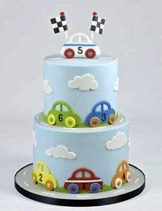 2 Pieces/Set Car Theme Plastic Cookie Fondant Sugar Craft Cutter
