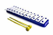 ProKussion Blue 12 Key Glockenspiel Xylophone with Metal Keys