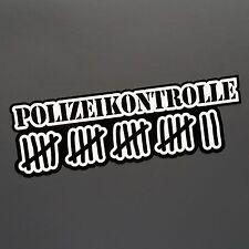 Polizeikontrolle Aufkleber Tuning Auto JDM Sticker shocker dapper illest dub rat