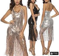 Vestito Donna Mini Paillettes Feste Capodanno Discoteca Mini Party Dress 110439