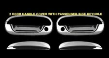 For FORD F150 1997-2002 2003 Chrome 2 Door Handle Covers WITH Keyhole w/o KP