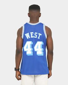 Mitchell & Ness Los Angeles LAKERS 1960-61 Jerry West BLUE Swingman Jersey 3XL