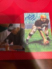 Frank Gatski Autographed Signed Goal Line Art Browns