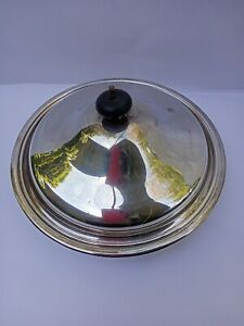 Antique Silver Plate Vegetable Serving Dish with Strainer Bakerlite Handle