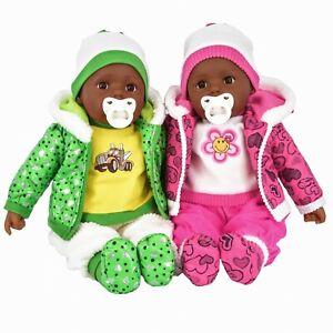 """20"""" Lifelike Large Ethnic Black Baby Doll BIBI Girls Boys Toy, Dummy & Sounds"""