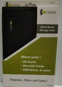 GiiNii Multi Media Storage Case SD Cards MicroSD USB Zip Drives Organizer