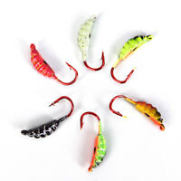 6Pcs 23mm/1.5g Ice Fishing Lure Maggot Worm The New Metal Bait Ice Mini Jig FG