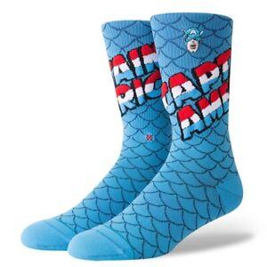 Stance Captain America Socks Mens Large L 9-12 Marvel Capt. America NWT